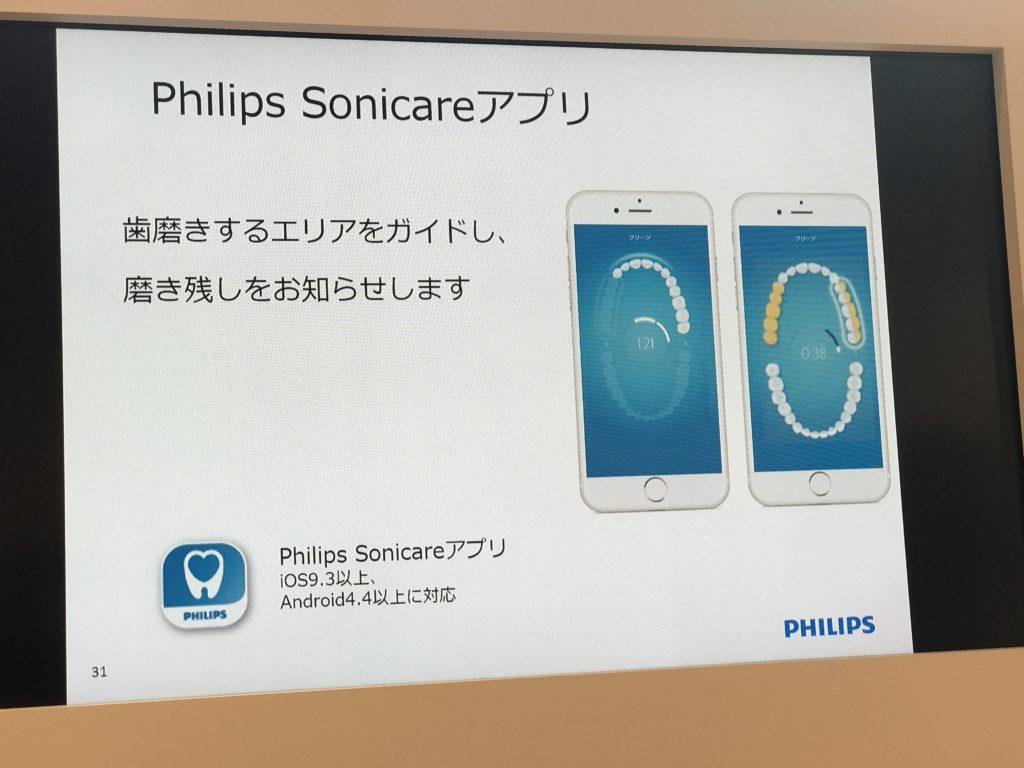 ソニッケアーのアプリ