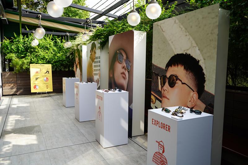 ルックスオティカジャパンのプレス向け展示会の様子